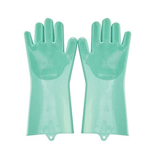 1 Paire de Gants de Vaisselle en Silicone -Bluestercool Gants de Nettoyage Magiques réutilisables, Gants de ménage en Caoutchouc pour Cuisine/Voiture/Nettoyage/Lavage/Salle de Bain