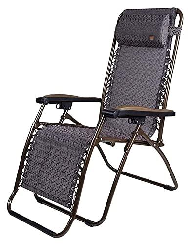 ZOUJIANGTAO Tumbona plegable para el sol, silla reclinable, plegable, para el almuerzo, silla de oficina (color: A, tamaño: 52 x 55 x 37 cm)