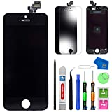 MMOBIEL Pantalla táctil LCD Compatible con iPhone 5 (Negro) Kit Profesional de reparación Incluye Sencillo Manual