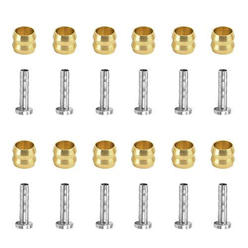 HRR Olive Steckereinsatz, 12 Set Hydraulische Scheibenbremse Olive Verbindungseinsatz für Shimano BH90 (Olive Und Insert-Pin)