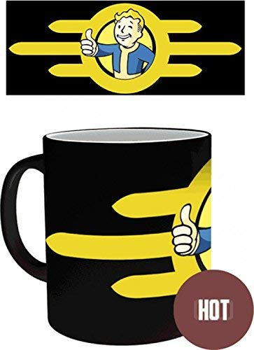 RUAN PP : Fallout Magic Heat Changing Coffee Mug - 4, Vault Boy 11OZ For Mother Stepmother Sister Aunt In Mother's Day Christmas Birthday Woman's Day New Year's Eve Thanksgiving Easter May Day