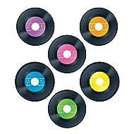 Carson Dellosa   Vinyl Record Cut-Outs   70s Party Decorations, 4.75-inch, 45pcs