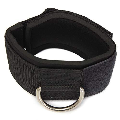 YOBAIH Tobillo ProteccióN Equipo de la Aptitud del Anillo en D Zapato con Cierre de Cable de la Pata de Fuerza Training (Color : Black)