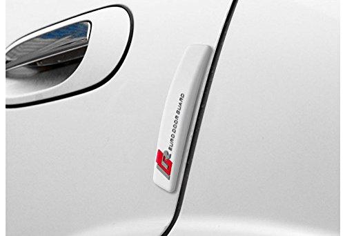 カードアガード-ホワイトAutocomEuroDoorGuardWhite車両の保護バンパープロテクターコンパクトデザイン柔らかい材質