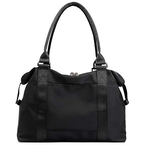 Forestfish Carry On Luggage Bag Sports Gym Bag Travel Duffel Bag, Black