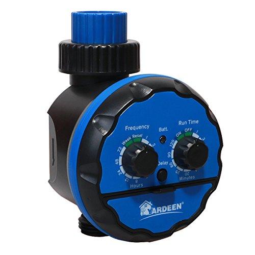 Yardeen Elektronischer Wasser-Timer, Bewässerungssystem, Wasserdicht, Regenzögerung, Farbe Blau