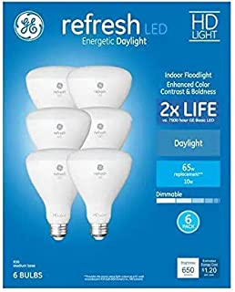 GE Refresh 6-Pack 65 W Equivalent Dimmable Daylight Br30 LED Light Fixture Light Bulb