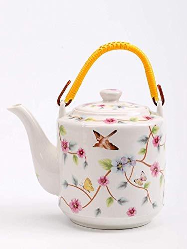 JHSHENGSHI Tetera Colador Tetera Cerámica Hervidor frío Tetera de Espuma Resistente al Calor Juego de té doméstico Juego de Taza de té de una Sola Olla Filtro