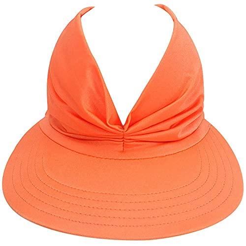 Gorra hueca elástica anti-ultravioleta,Sombrero de playa hueco del sombrero de la parte superior,Sombrero de playa de vacaciones Sun Visor Ponytail Cap pico