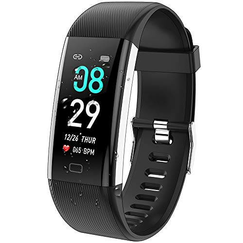 ANCwear Fitness Tracker Watch, F07 Activity Tracker Health Exercise Watch with Heart Rate Monitor Waterproof IP68 Smart Fitness Band with Sleep Monitor, Step counter Pedometer Watch for Men Women Kids
