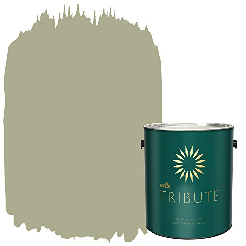 KILZ TRIBUTE Interior Matte Paint and Primer in One, 1 Gallon, Almost Sage (TB-88)