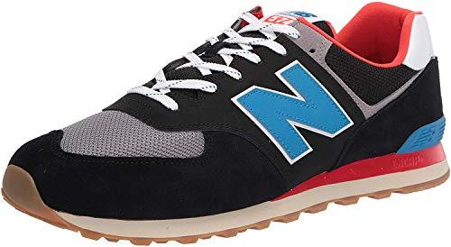 New Balance Herren 574v2 Sneaker, Schwarz (Black Sov), 44.5 EU