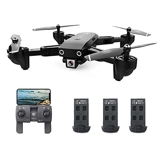 Sunydog CSJ S166GPS Drone con Fotocamera 1080P Seguimi Ritorno Automatico Home WiFi FPV Foto di gesti Live Video RC Quadcopter per Adulti con 3 batterie