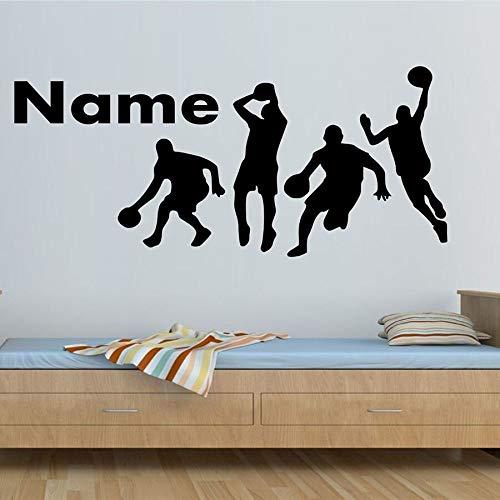yaonuli Speel Basketball muursticker aangepaste naam tiener slaapkamer hoofddecoratie vinyl sticker persoonlijkheid wandafbeelding