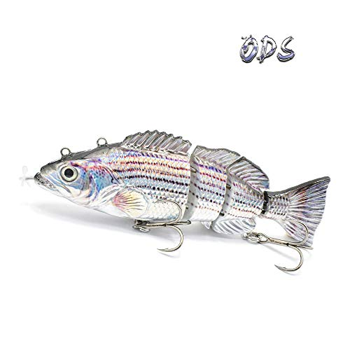 Robotic Swimming Lure,ODS Electric Fishing Lure 10 Segment Jointed...