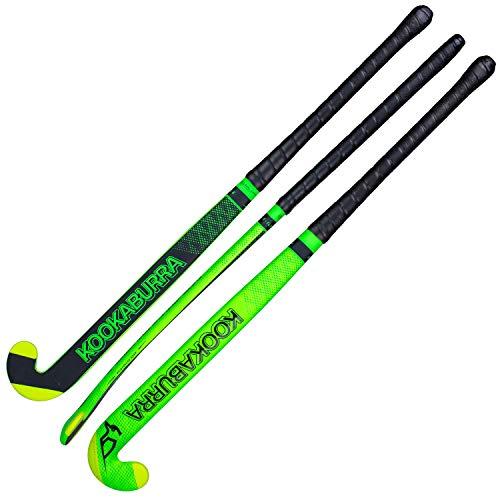 KOOKABURRA Bastone da Hockey X-ILE, Unisex, per Adulti, Colore: Verde Nero, 37.5L