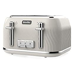 Distinctive textured design with a high gloss finish and chrome details, plus white illuminated controls for easy identification Variable width bread slots allow for both thick and thin slices Variable browning control lets you pick your preferred sh...
