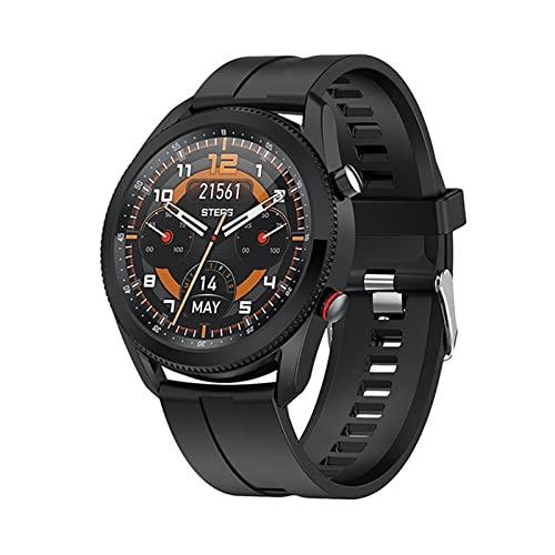 ZYY L61 Smart Watch, Función de Interruptor de rotación de dial de Reloj 1.28 Pulgadas SmartWatch IP67 Impermeable, Adecuado para Android iOS,C
