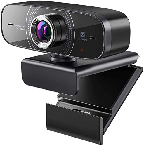 Webcam 1080P HD mit Mikrofon PC Kamera,Vitade 826M Web Cam USB Camera für Video Chat Live Streaming Kompatibel mit Laptop Desktop Mac Windows Skype Twitch YouTube Xsplit Xbox One