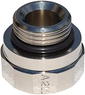 EZ (A-211) Silver 27mm-2.0 Thread Size Oil Drain Valve Adapter