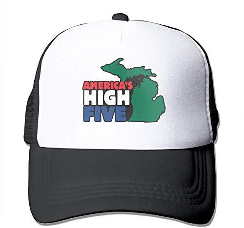 Preisvergleich Produktbild Voxpkrs America's High Five Unisex Grid Hat Baseball Cap Mesh Cap Adjustable Hat Cool5931