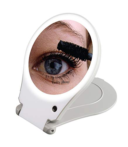 Price comparison product image Floxite Circle Lite Vanity and Travel 10x Magnifying Mirror