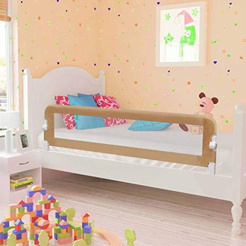 Cikonielf - Barrera de seguridad para cuna de bebé, plegable, barrera de cama robusta, fácil instalación, barrera de protección para bebé, niño, dormitorio, topo, 150 x 42 cm
