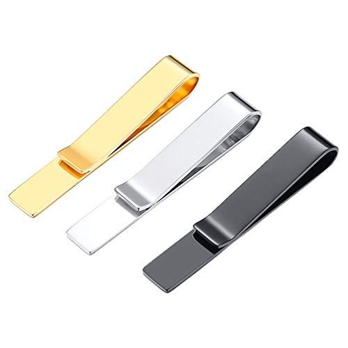 KESYOO 3 Peças de Barra de Gravata Masculina Grampos de Gravata de Aço Inoxidável Grampos de Gravata Empresarial