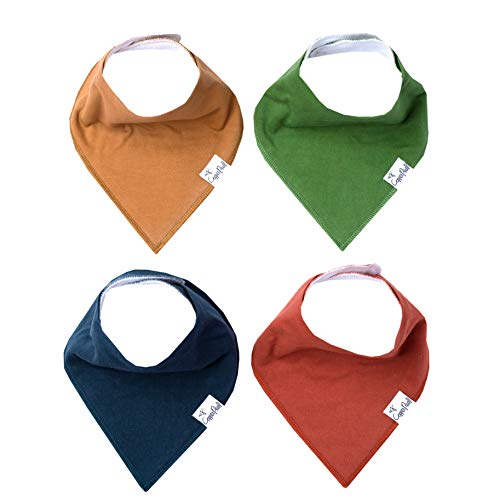 """Baby Bandana Drool Bibs for Drooling and Teething 4 Pack Gift Set """"Ridge"""" by Copper Pearl"""