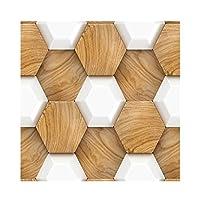 音響パネル - はがせる壁紙 防水PVC自己接着セラミックタイルステッカーキッチン浴室壁装飾30X30CM (Color : M, Size : 4 slices)