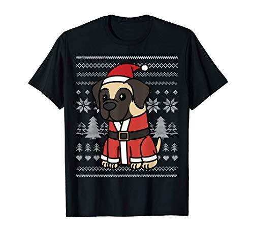 Navidad English Mastiff Perro Camiseta