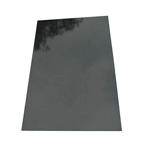 250x420x(0,5-5–5mm) 3K Schwarz Unifarbene Kohlefaserplatte Platte Glänzend Carbon Faserplatte Platte High Composite RC Material, 1.0mm, 1