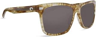 Costa Del Mar Aransas ARA206OGGLP Unisex Shiny Kelp Plastic Frame Gray 580Glass Polarized Lens Full Rim Square Sunglasses