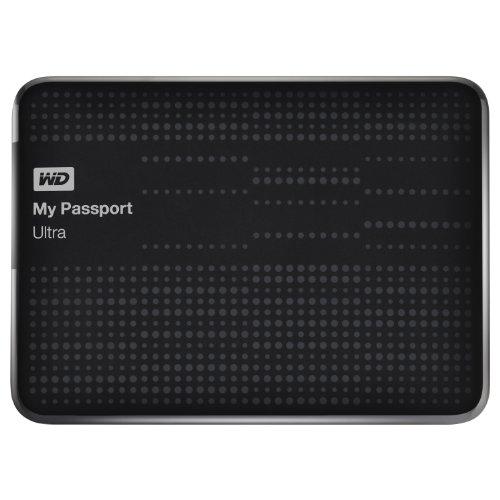 WD My Passport 2 TB Ultra Externe Festplatte (6,4 cm (2,5 Zoll), Kabel, Backup-Software, Passwortschutz, Hardware-Verschlüsselung, autom. Cloud-Backup, USB 2.0, USB 3.0) schwarz