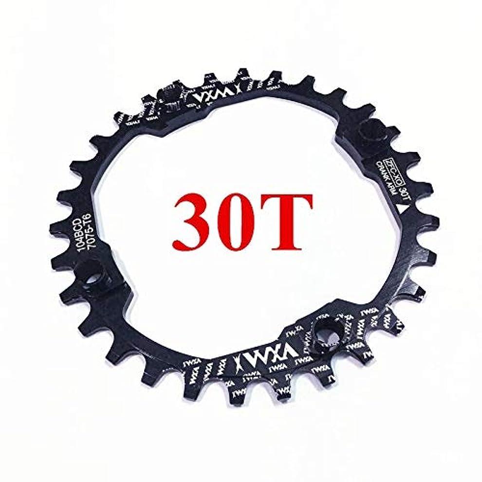 同一の最高電報Propenary - 自転車104BCDクランクオーバルラウンド30T 32T 34T 36T 38T 40T 42T 44T 46T 48T 50T 52TチェーンホイールXT狭い広い自転車チェーンリング[ラウンド30Tブラック]