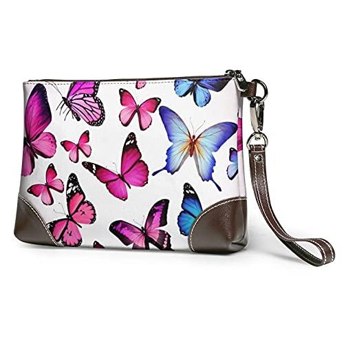 Hdadwy Color mariposa impresa mujeres bolsos monederos carteras cuero embrague bolsas 8 'X 5.5' X 1.5' X 1.5'