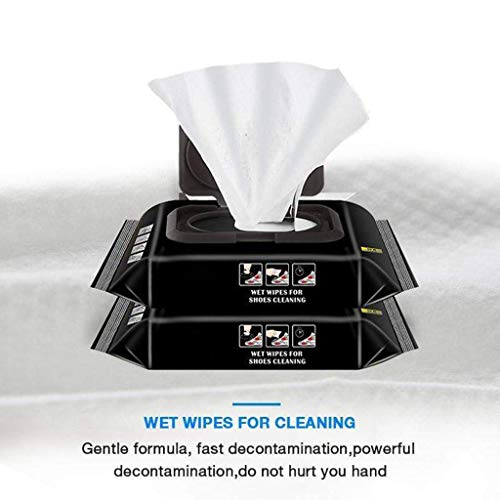 Shoe Wipes,2DXuixsh Travel Portable Disposable Sneakers Cleaning Wet Wipes White Shoes Artifact Deep Cleaning and Maintenance, Not Harm to Shoes