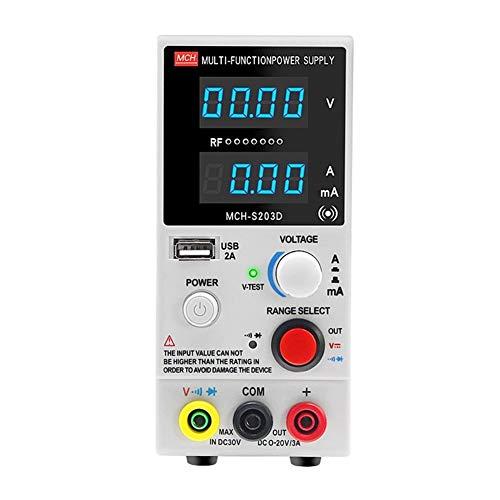 HEQIE-YONGP Wissenschaftliche Meter S203D geregelte Stromversorgung DC einstellbar Multifunktions-Laptop-Handy reparieren Instrument (Size : 110V)