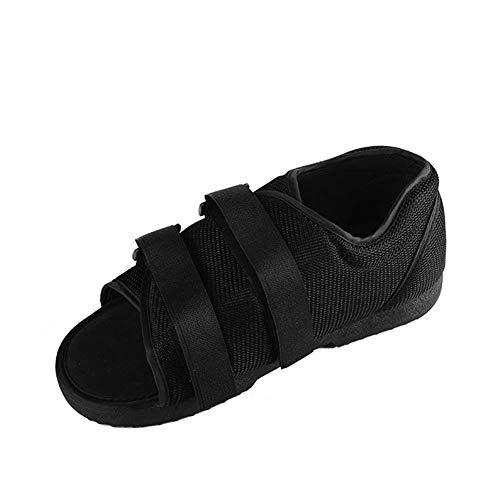 Zapatos de rehabilitación Estabilizador de fracturas Esguince Ayuda para caminar Médica Cinturón ortopédico ajustable Alisador fijo Anti-decúbito,Negro,30x11cm