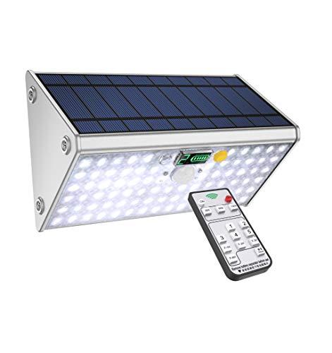 SLARR Premium Aluminum Solar Lights Outdoor Security Flood Light with Motion Sensor, 20000 mAh Battery, 79 LED 1700 Lumen White Light, Remote Control, 6 Modes, Easy Install (Fixed/Portable), Upgraded