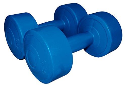 Sveltus - Manubrio in Cemento 4 kg (Coppia) per Adulti, Unisex, Blu, XL, Taglia Unica