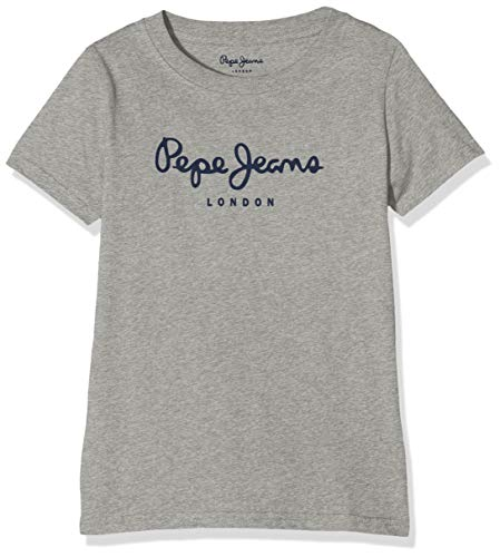 Pepe Jeans Art T-Shirt, Grigio (933grey Marl 933), 6-7 Anni Bambino