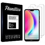 PHONILLICO [Pack de 2] Verre Trempe Huawei P20 Lite - Film Protection Ecran Verre Trempe [Lot de 2] Vitre Ecran Protecteur Anti Rayure sans Bulle d'Air Dureté 9H Ultra Mince Transparent
