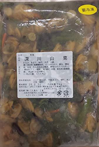 山菜 深川 山菜 ( あさり 山菜 ) 1kg×12P 業務用 激売 冷凍