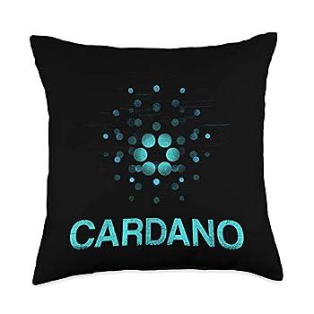 Money Currency Coin Cardano ADA Cash Mining Cardano Cryptocurrency Crypto Bitcoin Blockchain Gift Throw Pillow 18x18 Multicolor