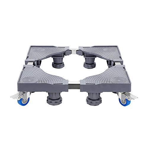 MorNon Waschmaschinensockel Untergestell Waschmaschinensockel Verstellbar mit Rollen Waschmaschinen Sockel Kühlschrank Sockel Trocknersockel (4 Rollen+8 Füße)