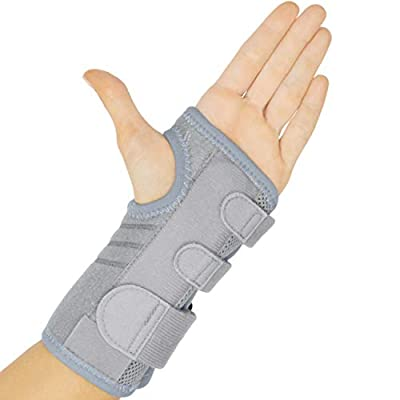 Vive Carpal Tunnel Wrist Brace (Left or Right) - Arm Compression Hand Support Splint - for Men, Women, Kids, Bowling, Tendonitis, Arthritis, Athletic Pain, Sports, Golf - Universal Adjustable Fit