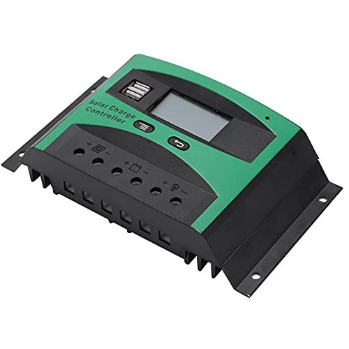 SHYEKYO Controlador Solar, Controlador Fotovoltaico 12V / 24V para AGM Gel y Otras Baterías para Hogar Industrial Comercial(40A)