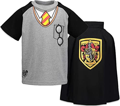 HARRY POTTER Warner Bros Conjunto de Gryffindor con Camiseta y Capa para Niños 11