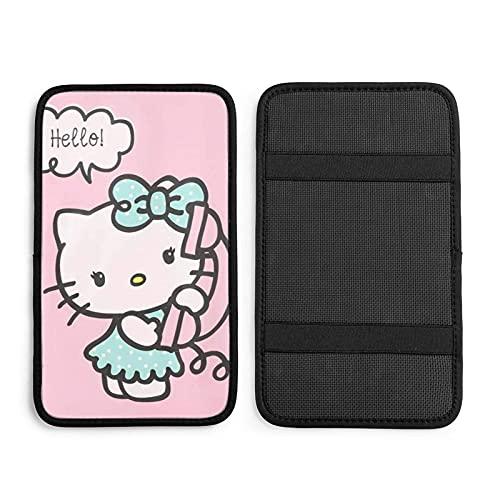 Hello Kitty - Cojín universal para reposabrazos de coche, diseño de Hello Kitty en el teléfono